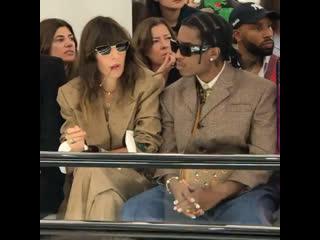 A$AP Rocky & Lou Doillon at the Gucci show
