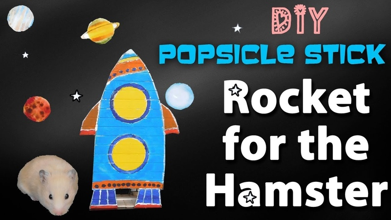 DIY Hamster toys. Rocket for the Hamster. How to make a Rocket from Popsicle Stick.