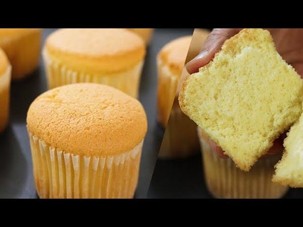 How to make fluffy Cupcake 카스테라컵케이크만들기 No butter cupcake