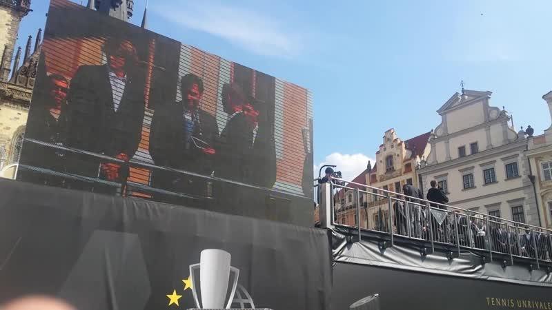 Roger Federer à Prague pour la Laver Cup