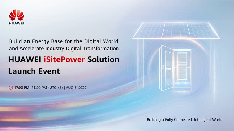 Live See how Huawei iSitePower integrates innovative intelligence into site power facility