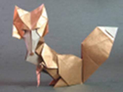 Origami Instructions vixen fox Román Díaz