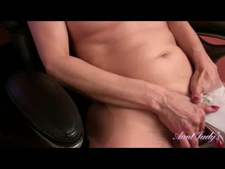 [auntjudys.com] cherise (masturbates at the office) [2019, mature, solo, hairy, masturbation, 1080p]
