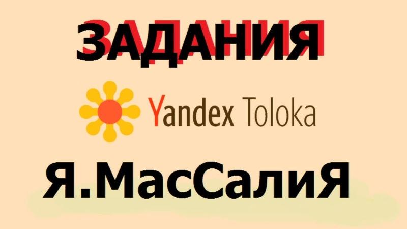 Яндекс толока заработок в интернете задания Я Массалия пример Kzxkr