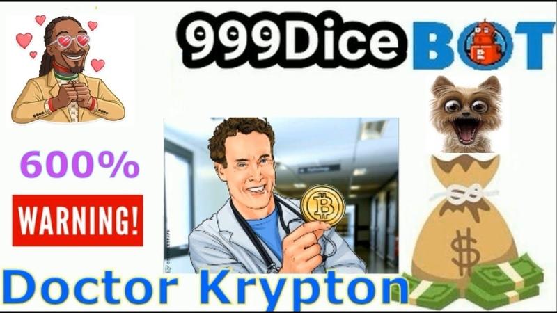 999DICE - THE BOT PREDATOR Game Settings Doctor Krypton Doge 600
