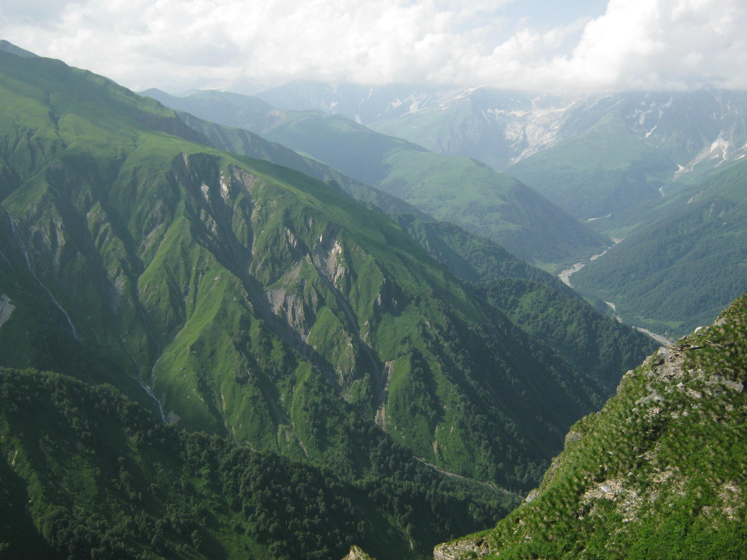 Постепенный набор высоты в горах