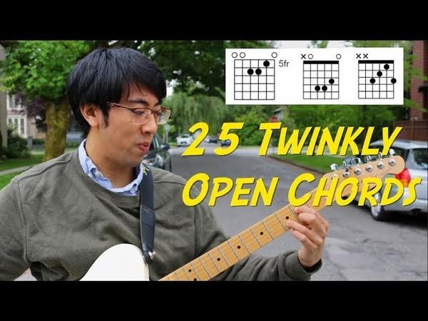 25 Twinkly Open Emo Chords In Standard