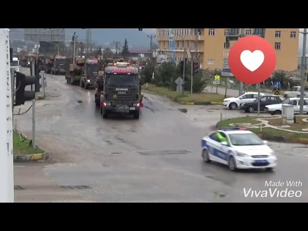 TSK İdlib bölgesine bugün 80 Araçtan oluşan yeni bir Konvoy Kefer-Lusinden giriş yaptı