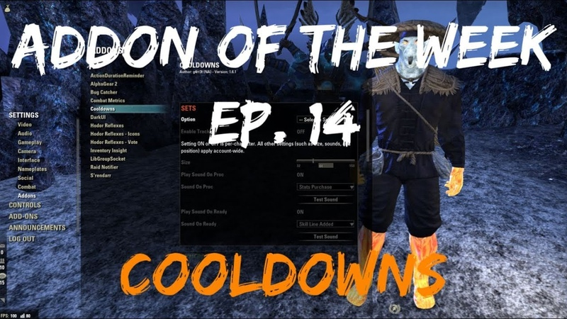 Addon Of The Week 14 COOLDOWNS Track That Item Proc or Synergies The Elder Scrolls Online