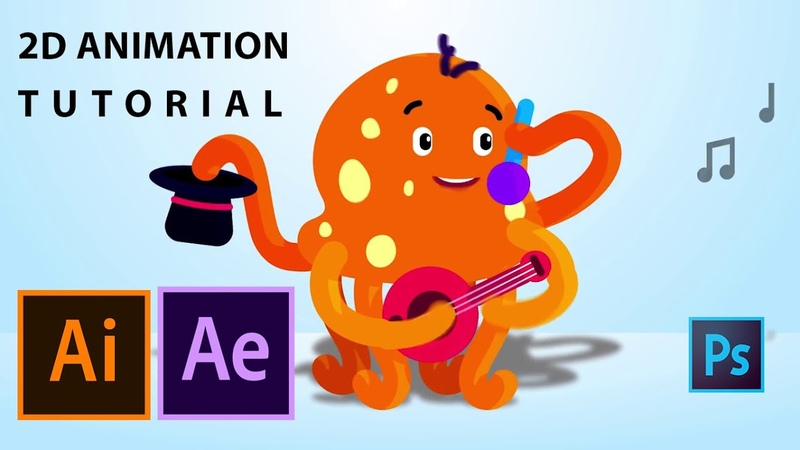 How to create 2D cartoon animation in illustrator After effects | workflow explained step by step