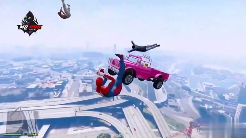 GTA 5 Человек паук Подборка эпичных падений 1 Гта 5 смешные моменты