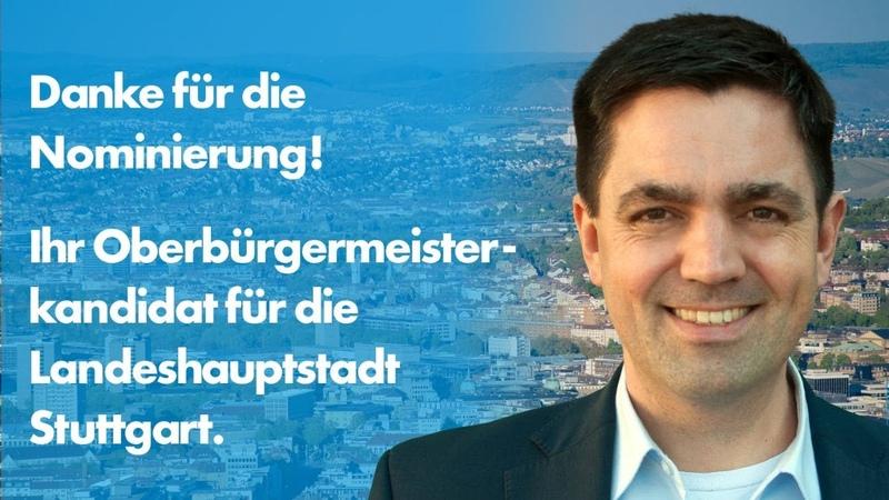 Stuttgarts letzte Hoffnung AfD Bürgermeisterkandidat Dr Malte Kaufmann im Gespräch