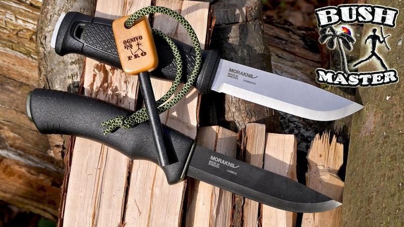Нож Mora Bushcraft Black против Mora Garberg Mora Garberg knife vs Mora Bushcraft black