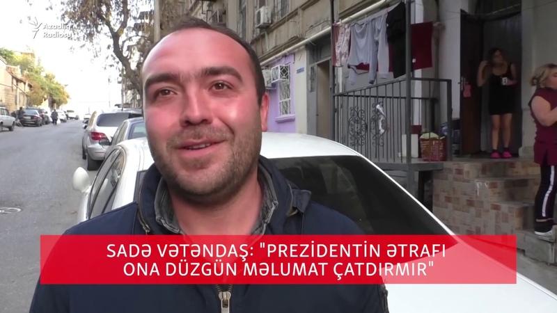 İlham Əliyevə şikayət edirsən, polis gəlib aparır...