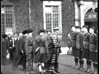 Earl Haig Installs Rudyard Kipling As Lord Rector (1923)