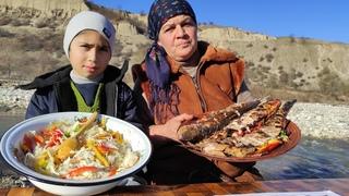 Közdə Kütüm Balığı, Cooking, Cooking on Nature