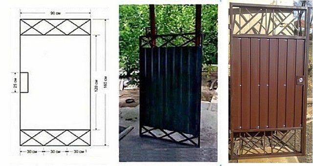 Калитка из металлопрофиля своими руками – схема + порядок выполнения работы, изображение №4