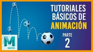 Tutorial básico de animación en Maya ::: Rebote de pelota horizontal / Bouncing ball tutorial