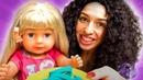 Видео куклы БЕБИ БОН - Готовим для Baby Born из Плей До! - Принцессы Игры для девочек одевалки