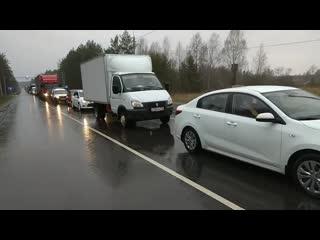 Пробка на въезде в Иваново из Москвы