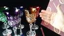 Бокалы для вина из цветного хрусталя Мемфис