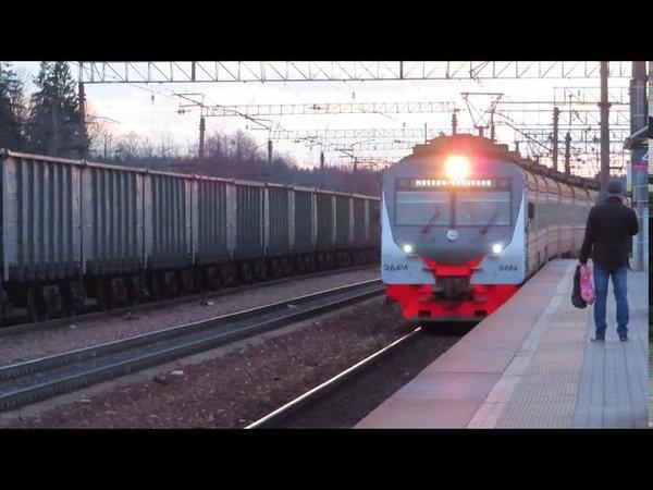 Электропоезд ЭД4М 0486 ЦППК станция Бекасово 1 13 03 2020