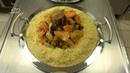 Couscous à la marocaine, rouleaux au miel et amandes