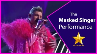 Nick Carter As The Crocodile Performs Open Arms Season 4 Ep  12 THE MASKED SINGER