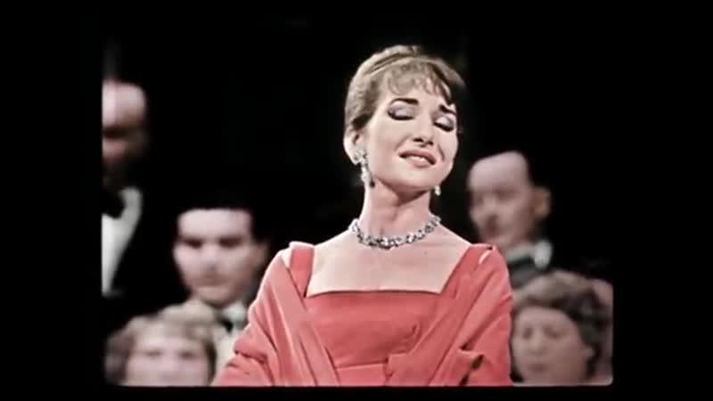 Maria Callas Casta Diva Colorized Version Paris 1958