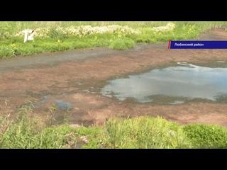 В Любино-Малороссах Омской области мелеет на глазах единственный водоём