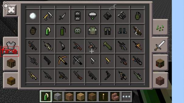 мод на оружие в майнкрафт v 0.15.0