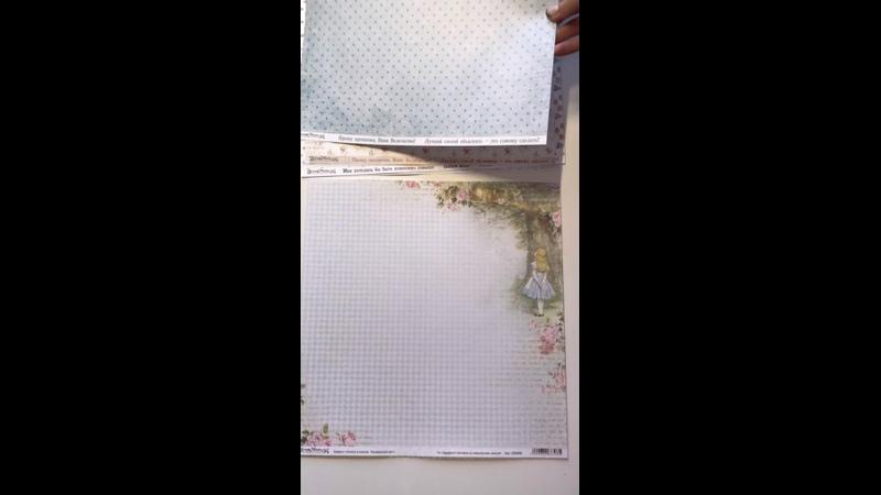 Обзор бумаги Алиса в стране чудес