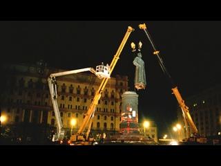 Демонтаж памятника Дзержинскому на Лубянке! Москва, 23 августа 1991 года.