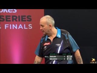 Phil Taylor vs Mensur Suljovic (PDC World Series of Darts Finals 2016 / Round 2)