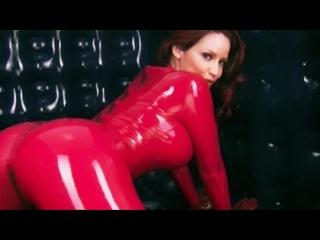 Bianca Beauchamp rubber room red catsuit ( erotic эротика fetish latex фетиш playboy model модель milf big boobs pussy )