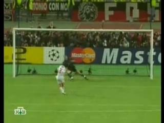 Третье пенальти.Подходит игрок Милана Пирло.А на этот раз Еже Дудек тащит.По-прежнему 1-0 в пользу Ливера.