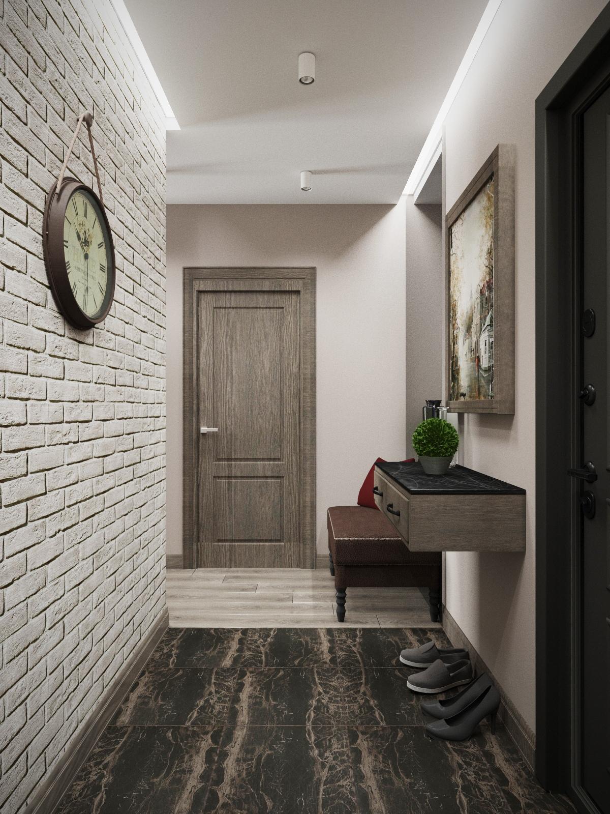 Дизайн квартиры площадью 44 кв.