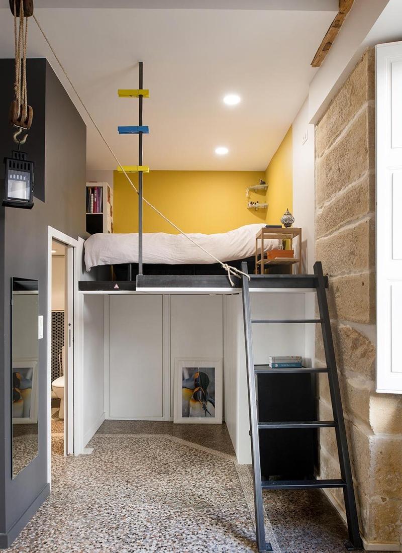 Французская квартира-студия от дизайнера Marion Lanoë.