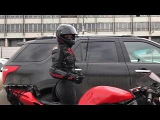 мото няшка на всех светофорах #мототаня девушка на мотоцикле