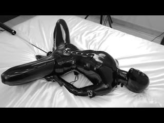 reflective desire - latex fuck machine