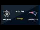 NFL 2020-2021, Week 03, Las Vegas Raiders - New England Patriots, RU, Viasat Sport HD