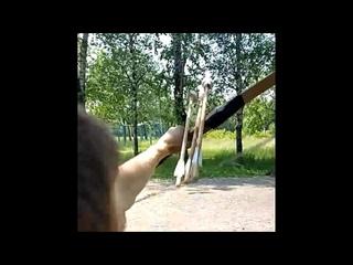 Когда освоил стрельбу 3 стрелами сразу