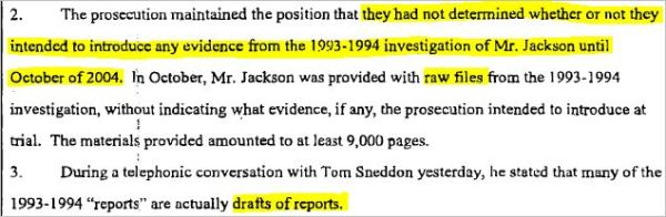 Судебные документы о деле 1993 года и злонамеренном преследовании Майкла Джексона., изображение №14