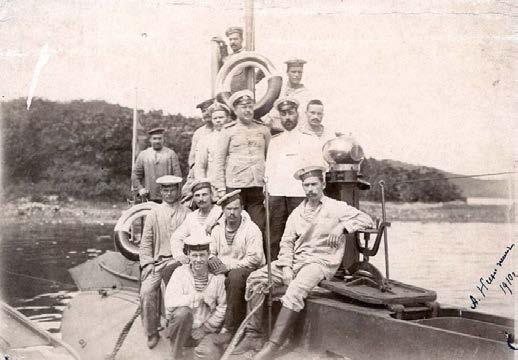 Члены экипажа подводной лодки «Щука», 1910 г.