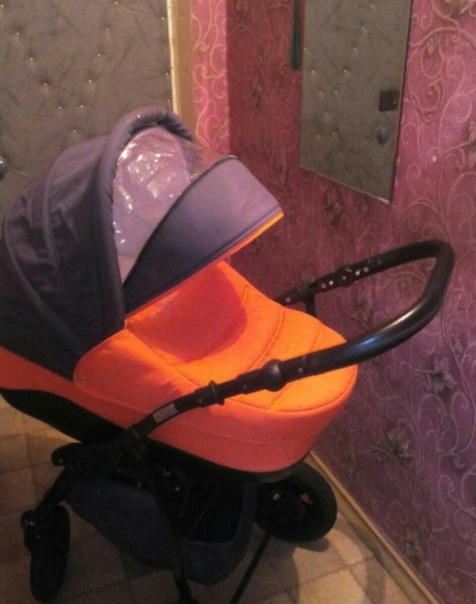 Коляска Tutis Zippy New оранжевый/графит, новая очень лег...