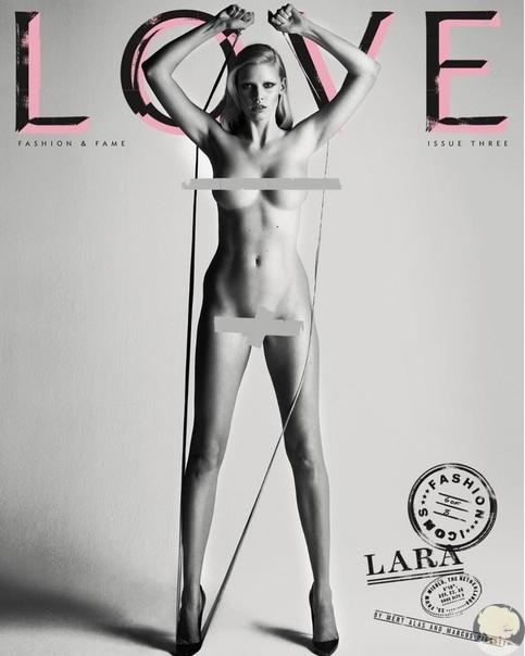 Наталья Водянова, Наоми Кэмпбелл и Кейт Мосс вместе с другими моделями полностью обнажились для глянцевого издания LOVE