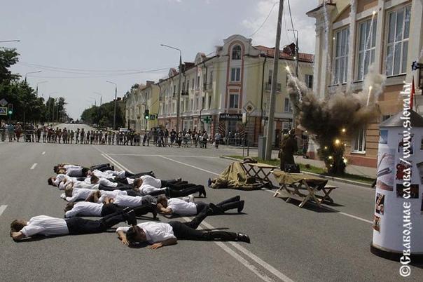 В Рогачеве прошла художественно-историческая реконструкция «Огненное лето 1941-го»