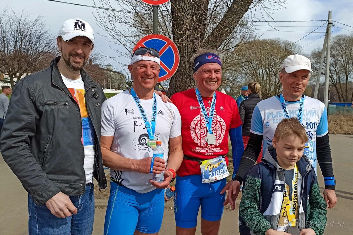 Рыбинский спортсмены забега на 10 и 21 км Притяжение весны 2021 (Ярославль)