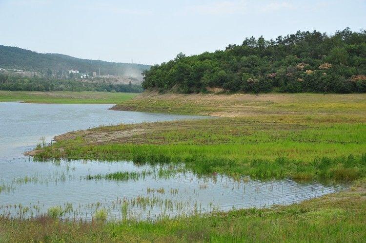 Как выглядит Симферопольское водохранилище после дождей