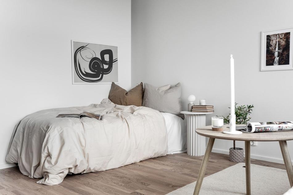 Интерьер маленькой скандинавской квартиры 23 кв.